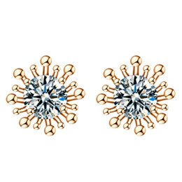 Wholesale Amazon explosion fashion high end OL big AAA zircon crystal earrings female ear jewelry