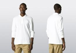 New Brand 2016 crocodile embroidery Polo Shirt Men Long Sleeve Casual Shirts Man's Solid Polo Shirt Plus 3XL Camisa Polo