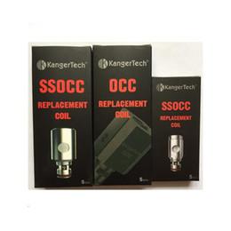 Kanger SSOCC Coil Head 0.15ohm Ni200 0.2ohm 0.5ohm 1.2ohm 1.5ohm Clapton VS OCC Clapton Coils head DHL Free
