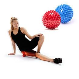 Promotion point de navire Spiky Point Massage Ball Déclencheur Roller Reflexology Soulagement du stress pour le bras de la main de pied de la paume du cou Body Massager Livraison gratuite ZA1917