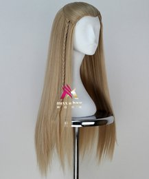 The Hobbit Legolas Greenleaf Remarkable Long Blonde Cosplay Party Wig Hair free shipping
