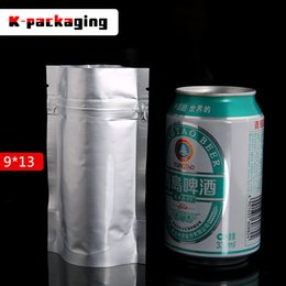5 pcs 0.20mm 9x13cm Small Ziplock Foil Tea Sachet   Resealable Foil Food Packaging Bags