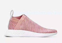 Dame ville à vendre-New Men Women Kith X Naked NMD City Sock CS2 Uncaged Running Boost Sneaker Ladies Pink Primeknit Shoes 36-45