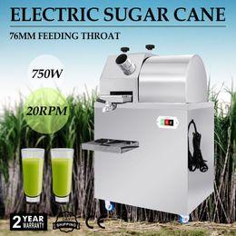 Wholesale New Electric Stainless Steel Desktop Sugar Cane Ginger Ginger Sweet Sorghum Press Juicer