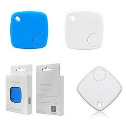 2017 dispositivo de niño perdido Bluetooth Tracker Teléfono Niño Bolsa de la llave de la carpeta Buscador inteligente de mascotas Mini Localizador GPS Alarma Dispositivo Anti-perdido dispositivo de niño perdido en venta