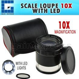 CLMG-7173-LED New Style 8 LED LIGHT 10x Magnification 25mm Magnifier Loupe Interchangeable Reticle 0-20mm Scale