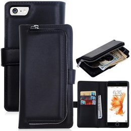 Multi Functional Iphone7 Wallet Case Removable Leather Cover Bag Card Holder