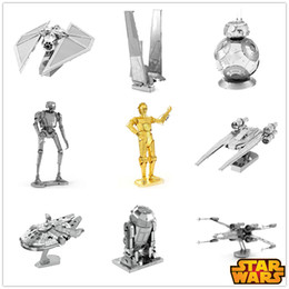 Wholesale Nano Puzzles Star Wars DOCTOR WHO CAT K-2SO BB-8 The pumpkin carriage 1701 DINOSAUR Mini 5 10 PCS Gift to children Originality