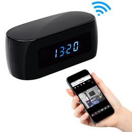 Ip ios came à vendre-32GB HD 1080P Horloge WIFI Caméra cachée Nanny Cam Wireless P2P Caméras de sécurité IP Night Vision Video Recorder Support IOS / Android PC iPad