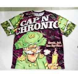 Real USA Size Captain Chronic 3D Sublimation print T-Shirt Plus size