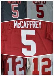Wholesale Cheap Mens Christian Mccaffrey Jersey Andrew Luck Jersey Stanford College Football Jerseys White Black Red Stitched Size S XL