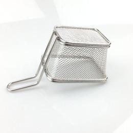 Wholesale Food Grade Mini Chips Fryer Basket Stainless Steel Fryer Serving Food Presentation Basket Kitchen French Fries Baskets ZA1896