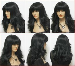 Beautiful Fashion Wig Hair New Long Black Cosplay Fashion Wavy Wig FREE SHIPPING