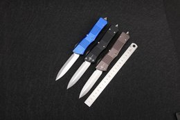 Wholesale Bat Version Microtech Auto Combat Troodon Knife Blade D2 Handle Aluminum CNC finish Black grey Outdoor camping hunting Tools g