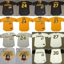 Wholesale 2017 Men s Pittsburgh Pirates BARRY BONDS KENT TEKULVE MAURY WILLS Throwback Baseball Home And Away Jerseys Stitched
