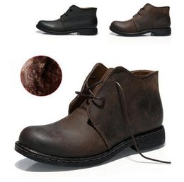 Wholesale High quality Fashion Men s Leather Boots Personality Slip Resistant Winter Shoes Complex Guma Ding autumn winter ankle boots