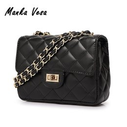 Wholesale Manka Vesa Women Fashion Messenger Shoulder Bags Famous Brand Designer Channels Handbag Purse Diamond Lattice PU Leather Bolsos