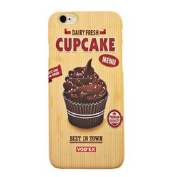 Wholesale Vodex cases cup cakes apple water paste mobile phone shell embossed D feel iPhone5 p