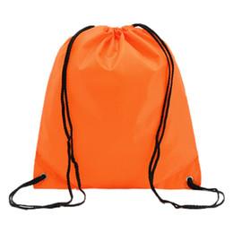Promotion offres sportives Vente en gros-Bonne affaire School Drawstring Book Bag Sport Gym -orange