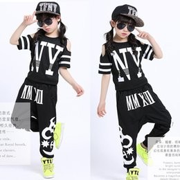 Black kids Adults Modern Jazz Sweatpants dancing Hoodie Costumes wear for Boys Girls Ballroom Performance Hip Hop Dancewear Outfits