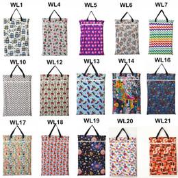 Wholesale U PICK Saco de colgar húmedo seco de cubo para pañales de tela inserciones panales lavandería con dos con cremallera impermeable reutilizable de elección