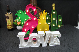 LED other light ins Korea hot sale Flamingo letter decoration lamp lamp Nightlight desktop for Christmas Party Hallowmas Birthday holiday