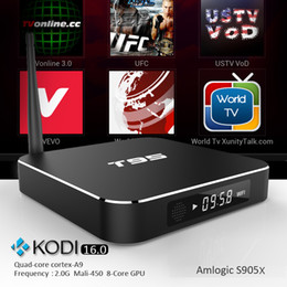 Wholesale Amlogic S905X T95 Internet TV Box Quad Core Wifi G Kodi16 Google play Apps fully loaded Best Android Smart Media Player