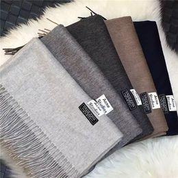 Wholesale ACNE Studios Echarpe Luxury Brand Scarf Unisex Female Male Best Quality Wool Cashmere Scarf Pashmina Tassels Women Men Wrap