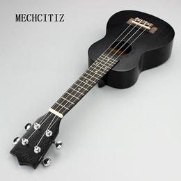 2017 cordes de guitare acoustique noir Vente en gros-Mini Vintage 21 Guitare Acoustique 4 Cordes Ukulele Cuatro Instrument Musical Couleur Noir pour étudiant Cadeau de Noël Guitares promotion cordes de guitare acoustique noir