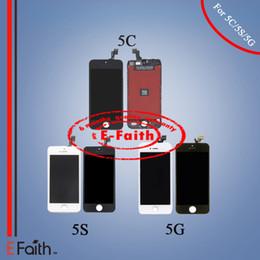 Part entière à vendre-Ecran LCD Ecran tactile Digitizer Montage complet pour iPhone 5G 5S 5C pièces de rechange de réparation Livraison gratuite