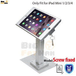 Fit for iPad mini1  2  3 4 wall mount aluminum metal case bracket Security desktop support for iPad mini holder for tablet