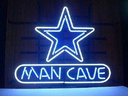 2017 panneaux de cowboy Nouveau pneu Tat Neon Beer Sign Bar Sign Verre Verre Neon Light Beer Sign New Man Cave Dallas Cowboys Football Real Glass Neon 24x20 panneaux de cowboy promotion