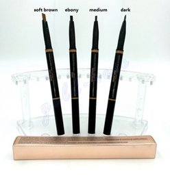 Wholesale HOT MAKEUP Eyebrow Enhancers Makeup Skinny Brow Pencil gold DOuble ended with eyebrow brush g Color GIFT dhl