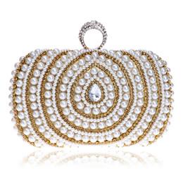 Venta al por mayor de cuentas de señora bolsos de dedo anillo de diamantes bolsa de bolsos de noche de cristal de lujo de la boda de perlas bolsos para la cena del partido desde señoras monederos moldeado fabricantes