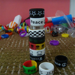 Silicon rubber band vape ring for mechanical mods decorative and protection mod resistance rubber bands for 18650 22mm mod rda rba