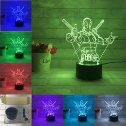 Wholesale 2017 D Desk Lamp Shape Gift Acrylic Night light LED lighting Furniture Decorative colorful color change household Home Accessories