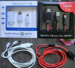2017 línea de hd 2M 6ft 11pin USB universal MHL de Mirco a la línea adaptador HD 1080P del cable de la cuerda de HDMI para la galaxia S5 S4 de Samsung DHL barato línea de hd