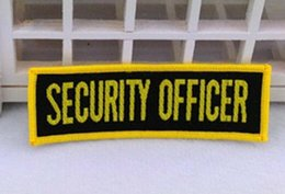 Wholesale SECURITY OFFICER Woven Sew on Patch badge applique cm cm American Flag USA US