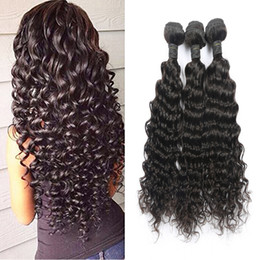 Hot Selling Brazilian Hair Extensions Malaysian Human Virgin Hair Weaves Deep Wave Natural Color 3pcs 50g pc Can Be Dyed Free Shipping