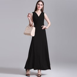 2017 Summer Europe Station Suit-dress New Pattern Sexy Solid Color Self-cultivation V Lead Vest Will Length Of Pendulum Fund Dress Longuette