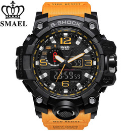 Wholesale SMAEL Brand Men Casual Sport Watch Dual Display Analog Digital LED Electronic Quartz Watches Male Waterproof Swimming Wristwatches