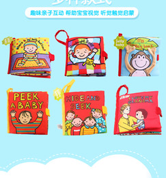 6 styles Jollybaby Educational Cloth Book Infant Kids Early Learning Unfolding Activity Baby Stuffed Toys Hide and seek Cloth Book