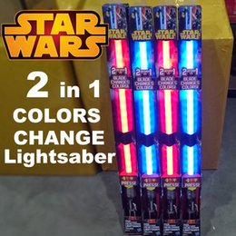 Wholesale Star Wars FX lightsaber Darth Vader Anakin Skywalker color change lightsaber LED flash swords kids toys blue red sound