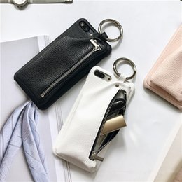 for iPhone 7 Case Leather Wallet Luxury Zipper Girl Handbag Pocket Case for iPhone 7 6 6S Plus Cover Ring Holder