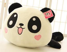 Promotion oreillers panda en peluche 2017NEW32cm Panda poupée oreiller, panda jouet en peluche, peluche panda jouet ours ours en peluche poupée fille valentine