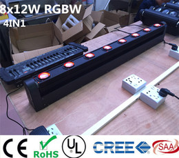 Promotion rgbw conduit faisceau mobile de la tête Vente en gros-LED Bar Beam tête mobile RGBW 8x12W parfait pour Mobile DJ, Party, boîte de nuit Colorstage 8 BEAM MOVING BAR