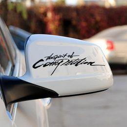 Coche espejo decorativo en Línea-Espejo retrovisor individuales pegatinas decorativas de carácter pegatinas de coche al por mayor Rápido y furioso coche espejo coche sticekrs