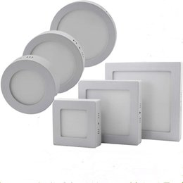 Dimmable 9W 15W 21W LED Panel Lamp Round Square Panel Light Surface Mounted Led Downlight lighting Led Ceiling Down Light + Drivers