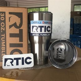 Eaux froides à vendre-DHL gratuitement RTIC Cups Tumbler Cups Car Cups Stainless Steel Sharp as YT Mugs 30 oz 20 oz Beer Cooler Bilayer Isolation Bouteilles d'eau Tasses