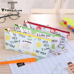 Fruit Pattern Pencil Case 20*9cm School Pencil Case Stationery Pen Case Beautiful Pencil Bag